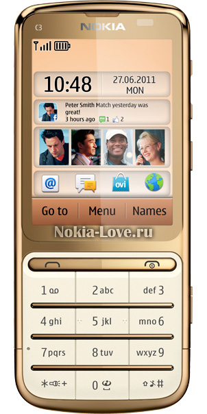 Nokia C3-01 Touch and Type Gold Edition