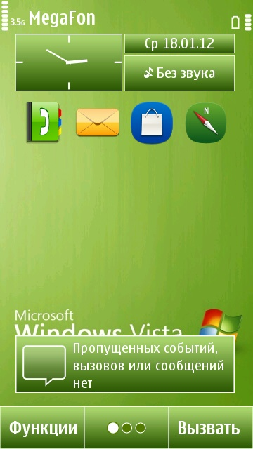 Green Windows Vista Symbain