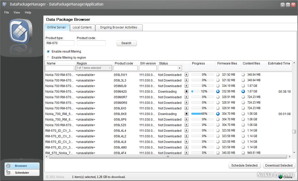 Nokia Data Package Manager 4.2(2011.50.1)