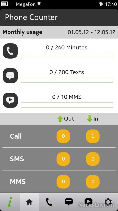 Phone Counter 1.1.0