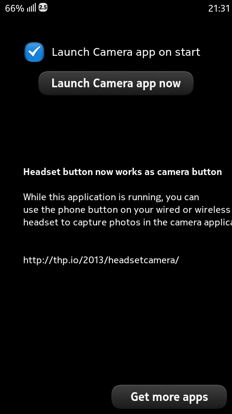Headset As Camera Button 1.0.0